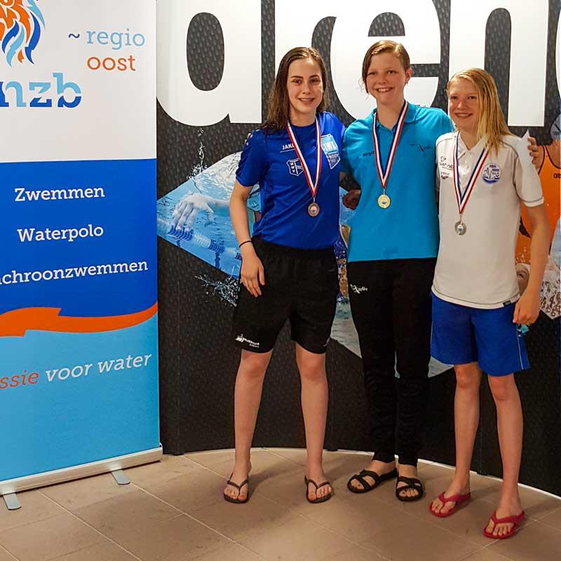 Renée Duenk 3x Brons Op GK Zwemmen In Nijmegen