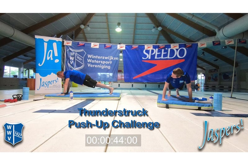WWV Jaspers Landtraining Thunderstruck Push-Up Challenge